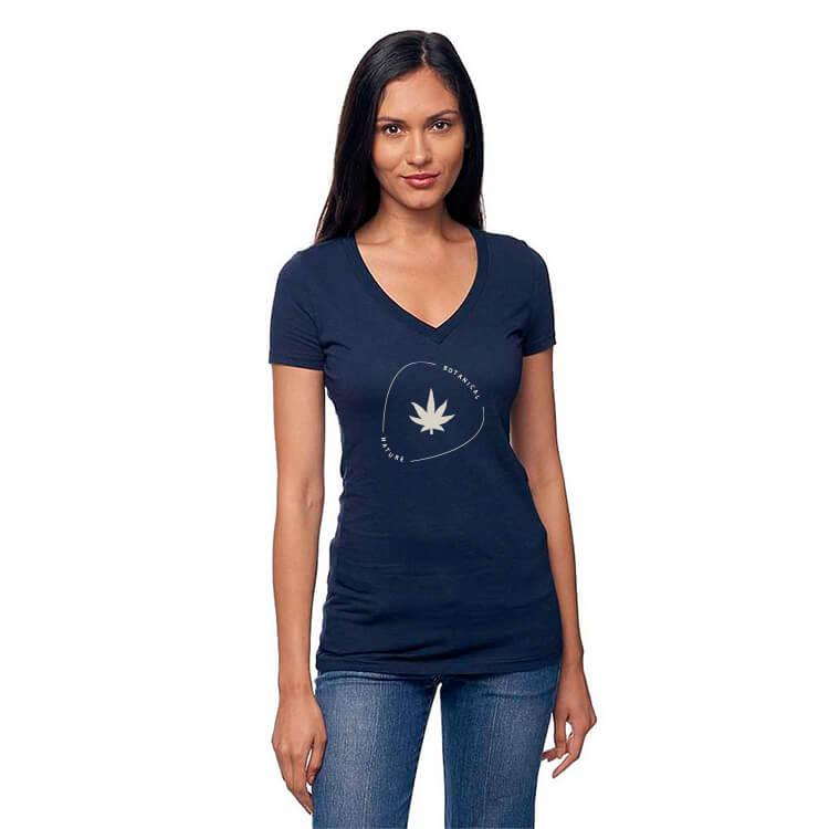 Soft and durable hemp v-neck shirt