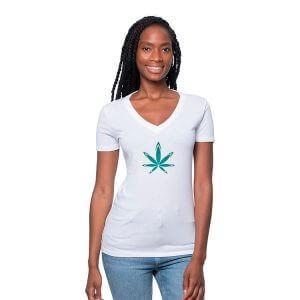 Custom hemp T-Shirt v-neck for women
