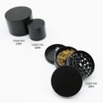 4 piece metal grinders black with marijuana