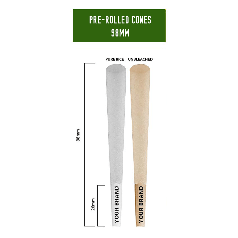 98mm pre rolled cones template
