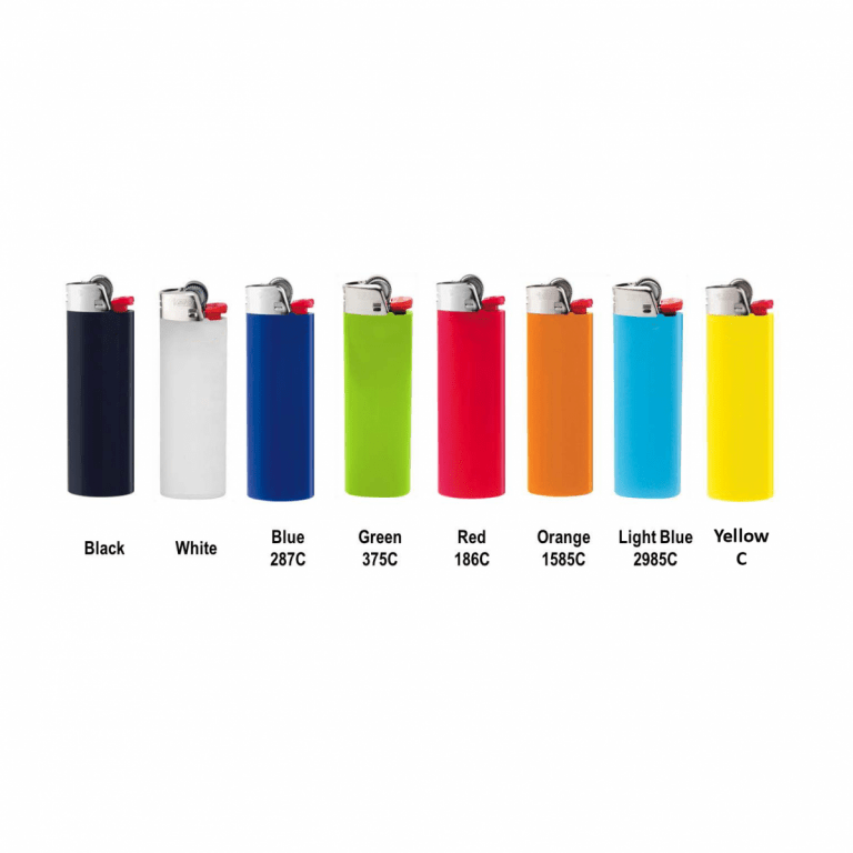brandable bic lighter color options