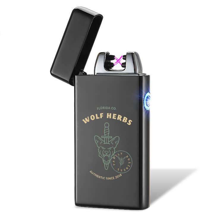 marijuana lighter with logo