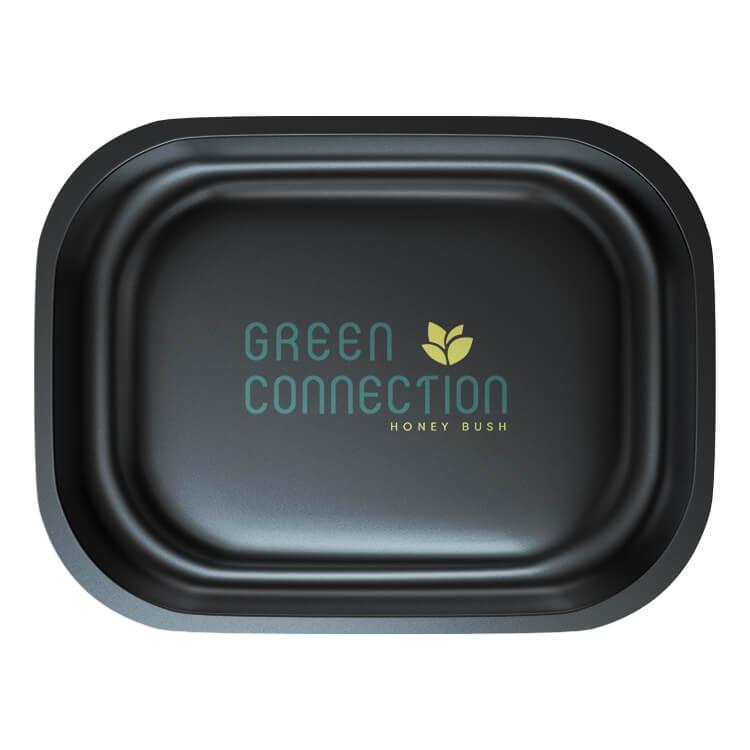black tray pad printed