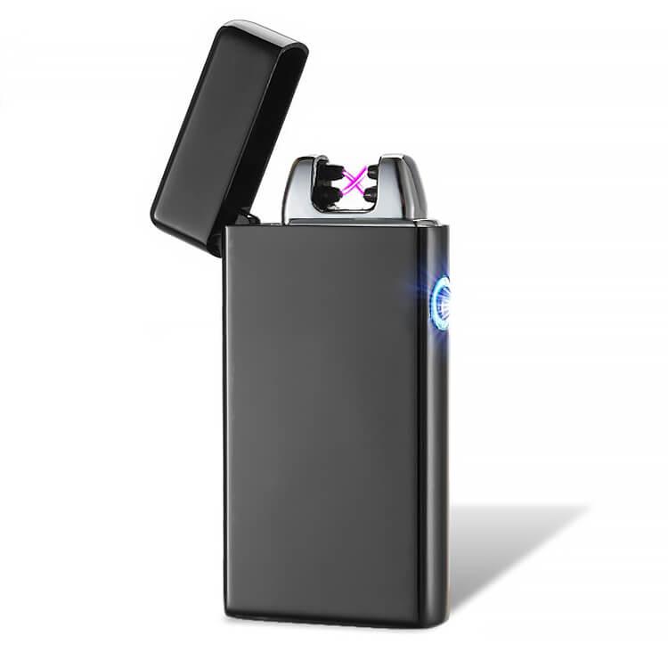 black USB plasma arc lighter