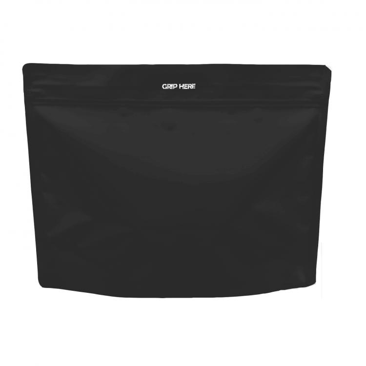 Black cannabis zipper opening bag