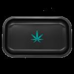 Black Tin Rolling Tray Medium with Custom Logo
