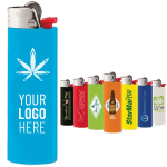 Custom Bic Lighters all colors with custom logo and cannabis logo