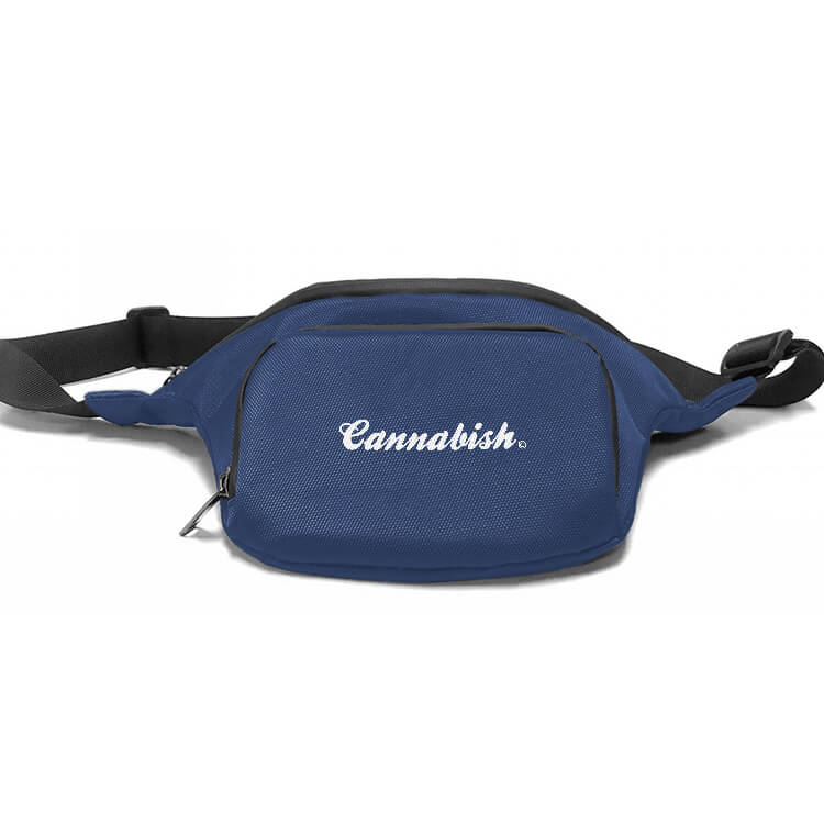 blue cannabis waist pack customized