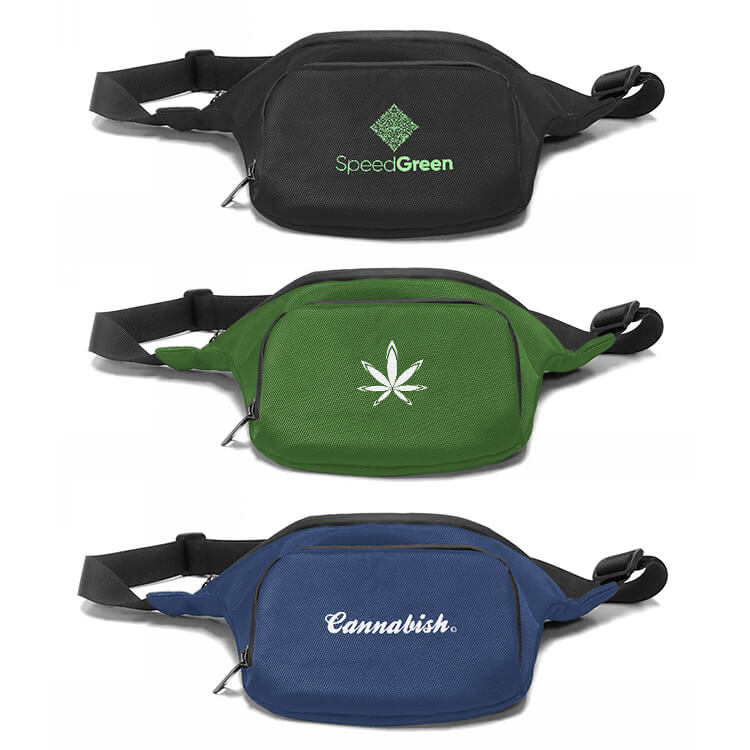 cannabis waist packs logoed