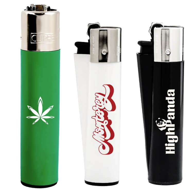 clipper lighters logoed