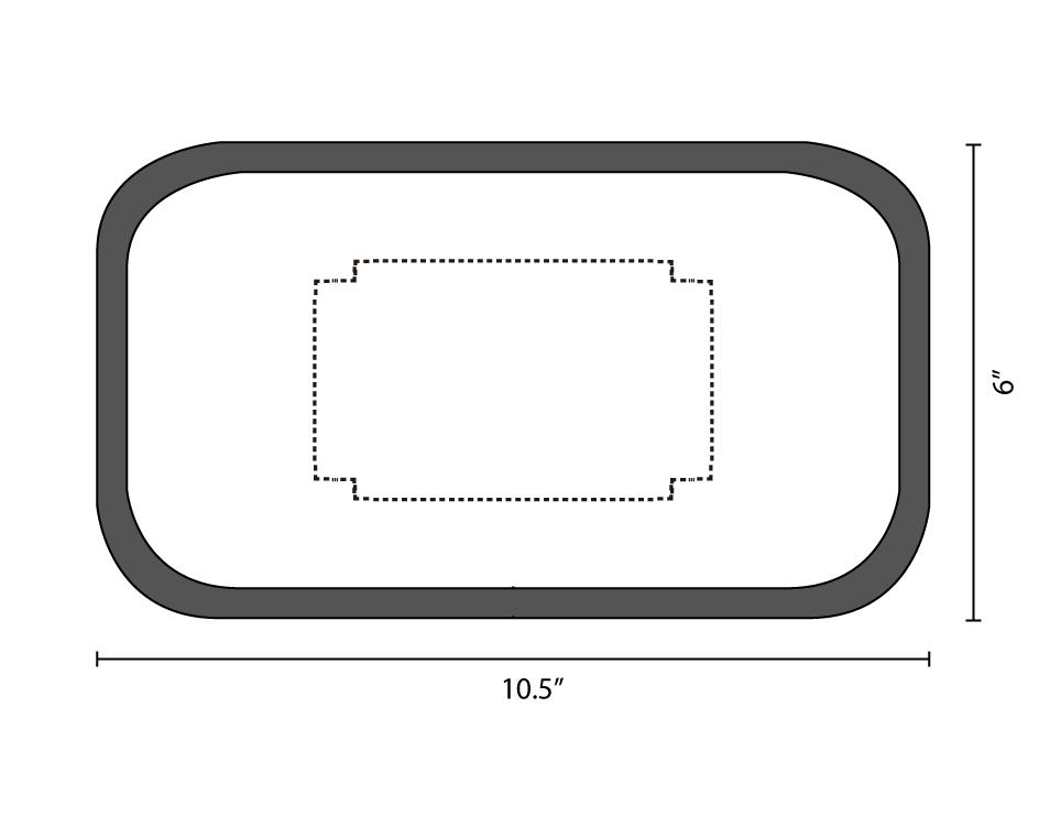 medium rolling tray dieline