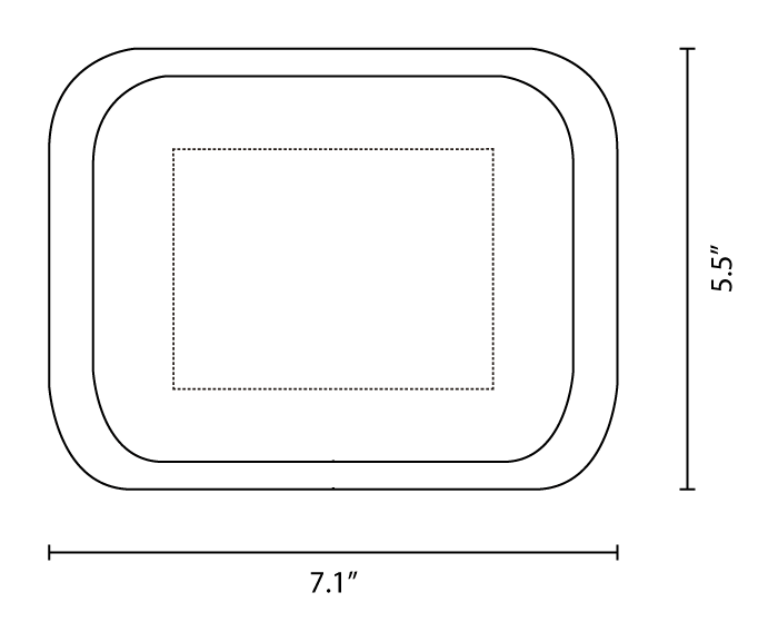 tin rolling tray 7.1x 5.5