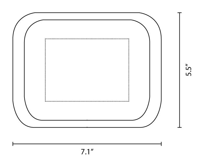melamine rolling tray 7.1x 5.5