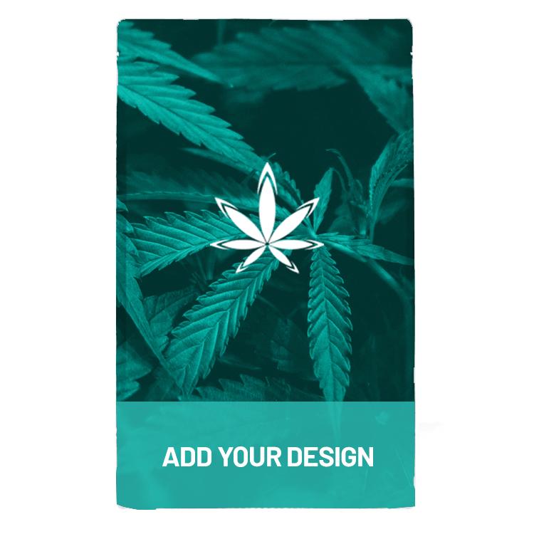 Custom marijuana one pound mylar barrier bag