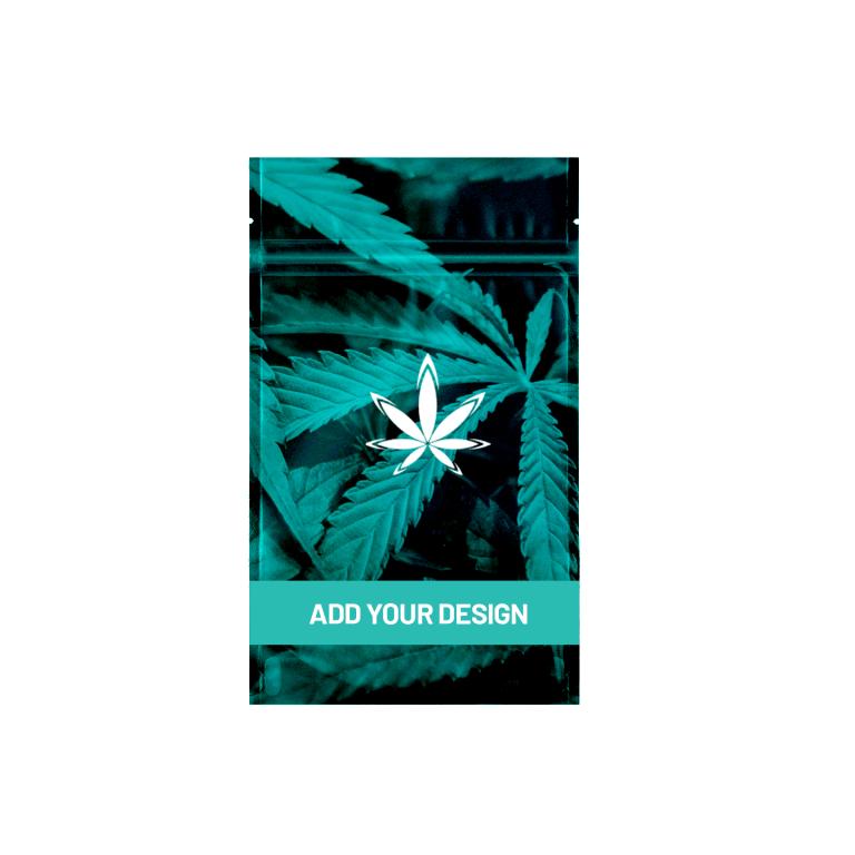 Custom marijuana quarter ounce mylar barrier bag