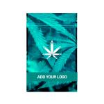 Custom marijuana half ounce mylar barrier bag