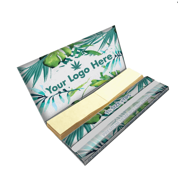 eco-friendly 1 1/4 rolling papers with logo