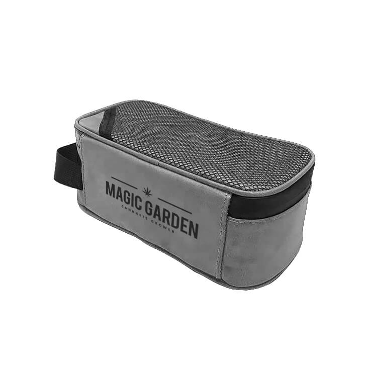 custom grey carrying case with combination lock