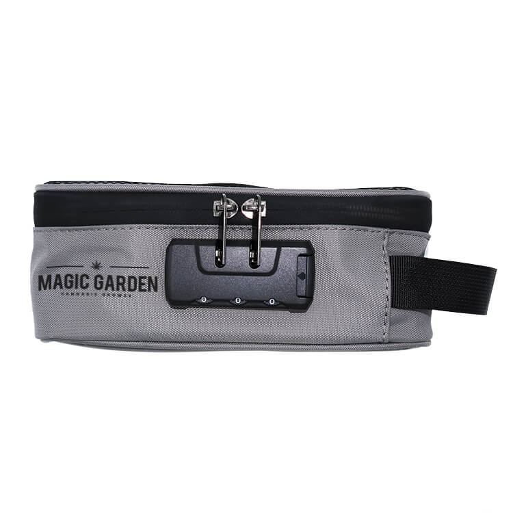 smell proof stash case with logo