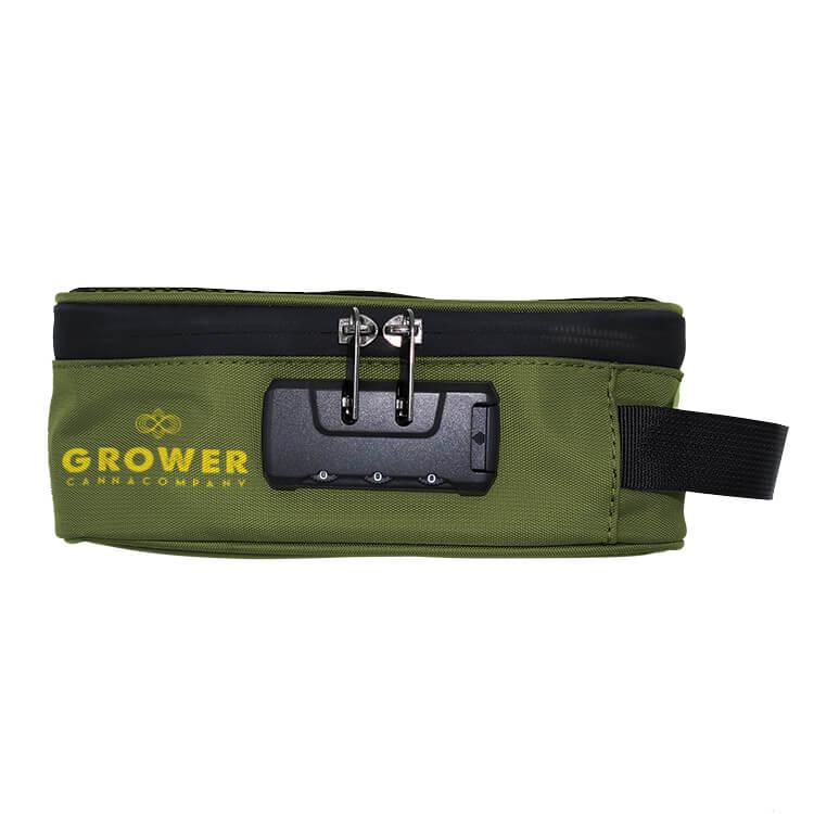 green stash carrying case logoed