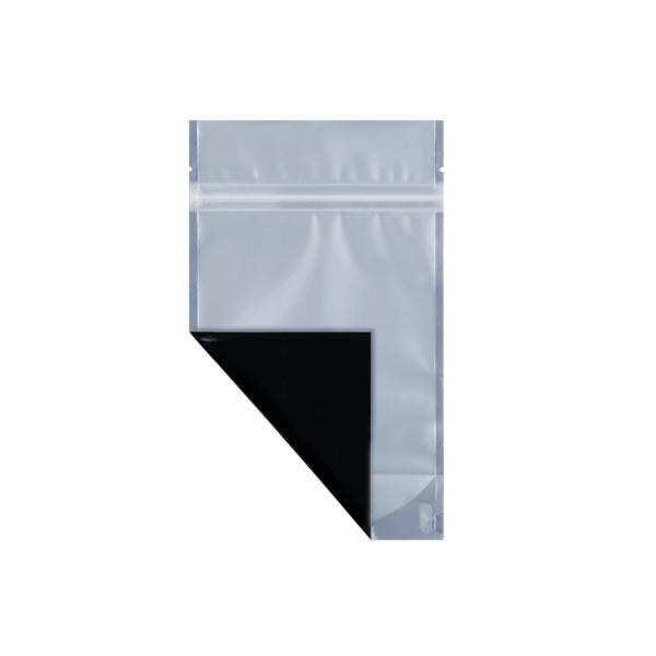 Black quarter ounce cannabis mylar barrier bag
