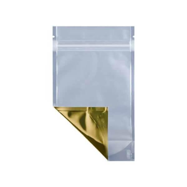 Gold quarter ounce cannabis mylar barrier bag