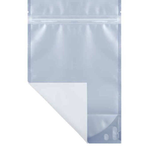 White ounce marijuana mylar barrier bag