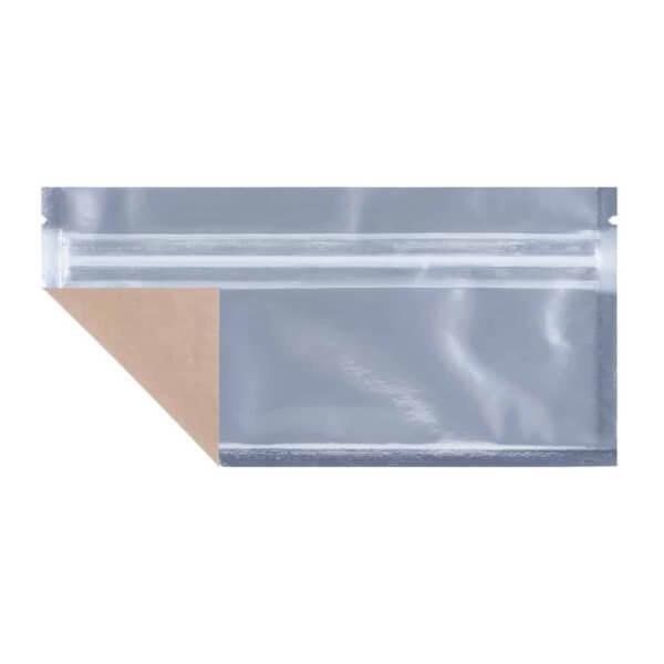 Custom clear mylar cannabis barrier bag