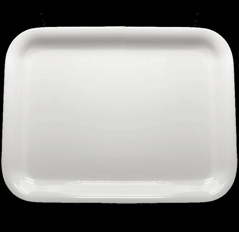 white melanine tin tray
