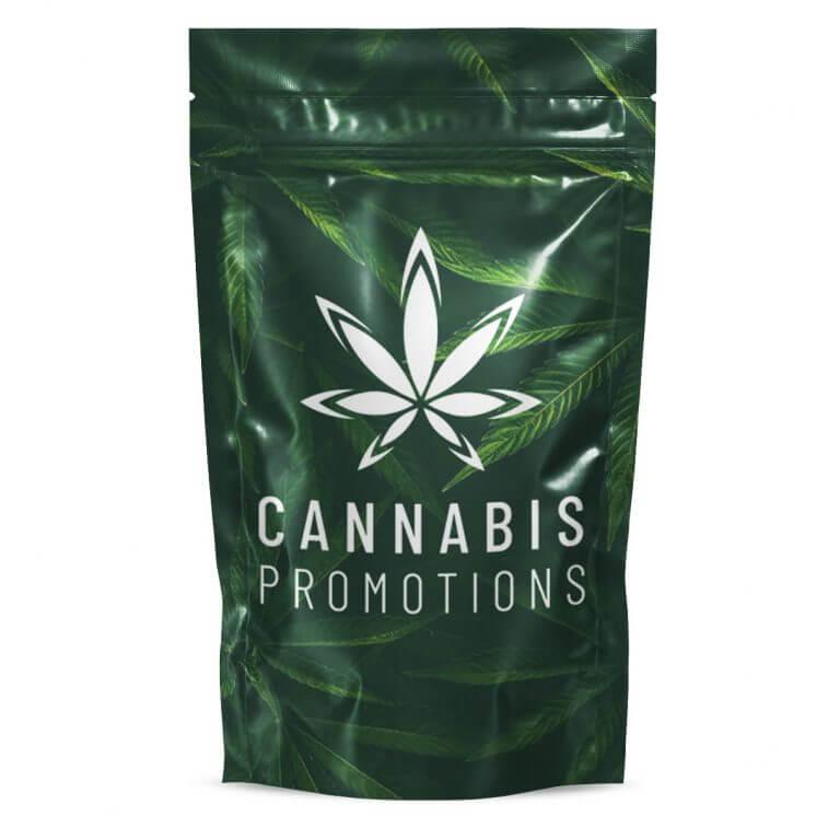 Custom one pound mylar barrier bag with logo