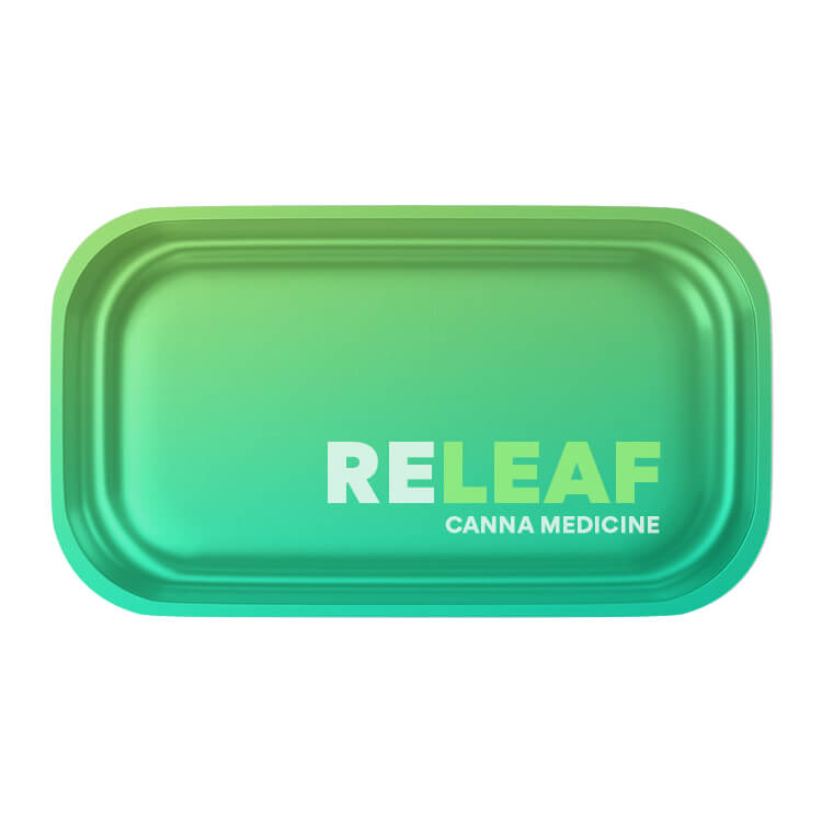 weed tin rolling tray branded