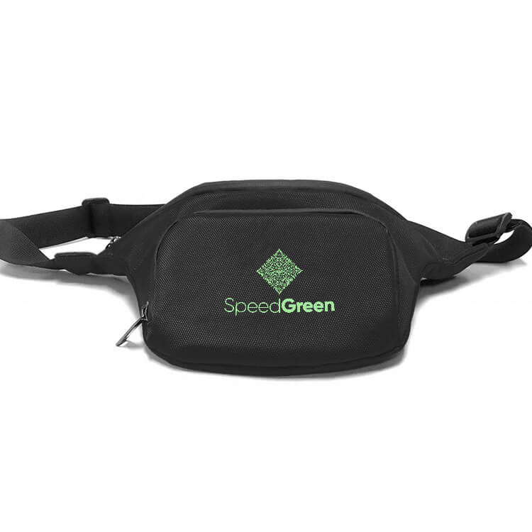 black smell proof waist pack