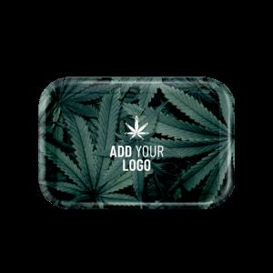 marijuana small rolling tray branded