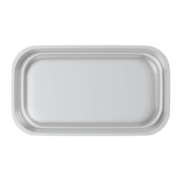 white tin rolling tray