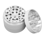 grinder with bottom and middle storage compartment