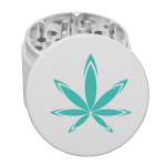 custom white grinder with logo
