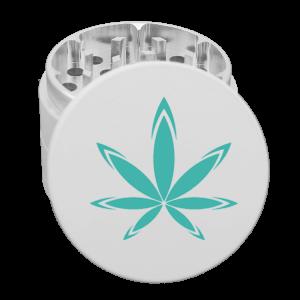custom white grinder with logo