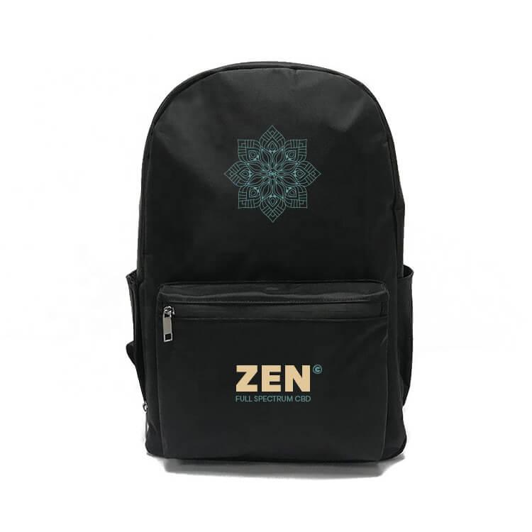 marijuana backpack with combination lock pad printed