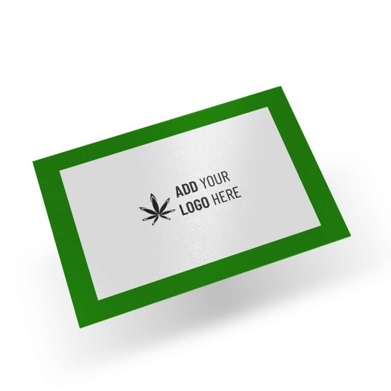 12x8 silicone dab mat with logo