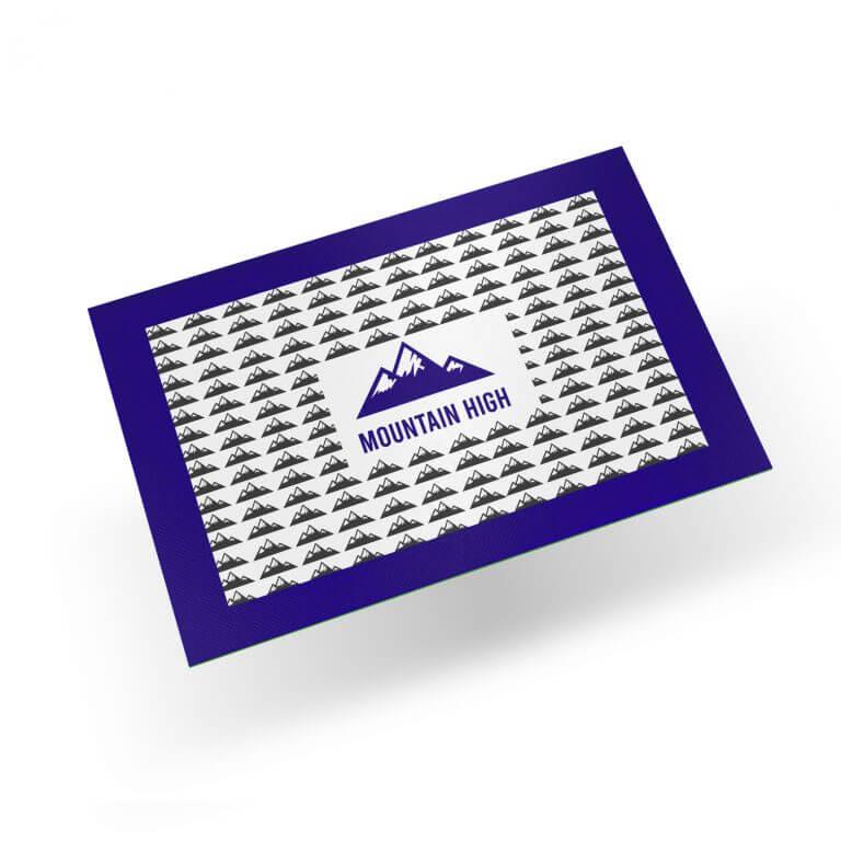blue dab mat branded