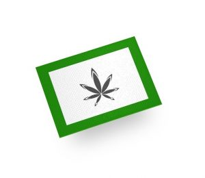 cannabis dab mat with logo