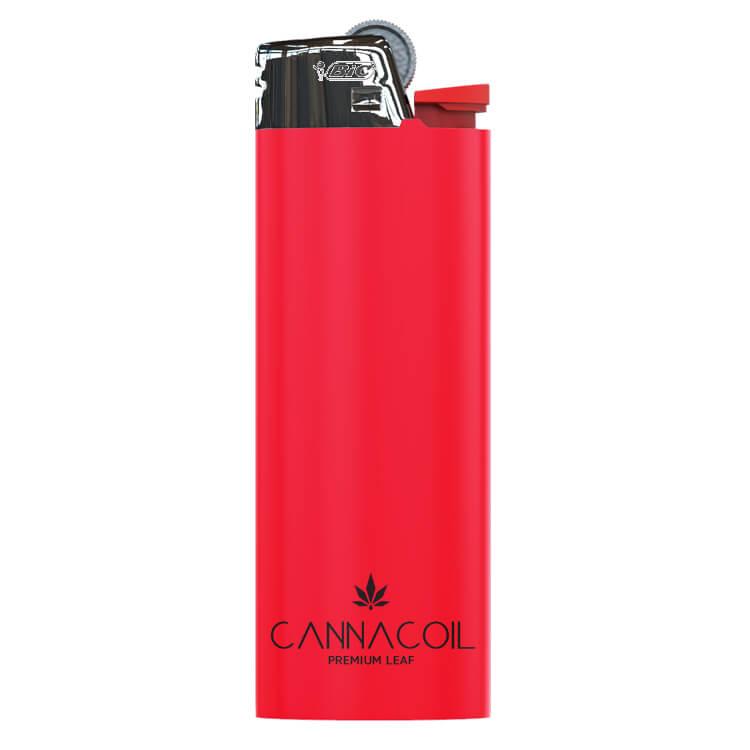 branded red BIC lighter