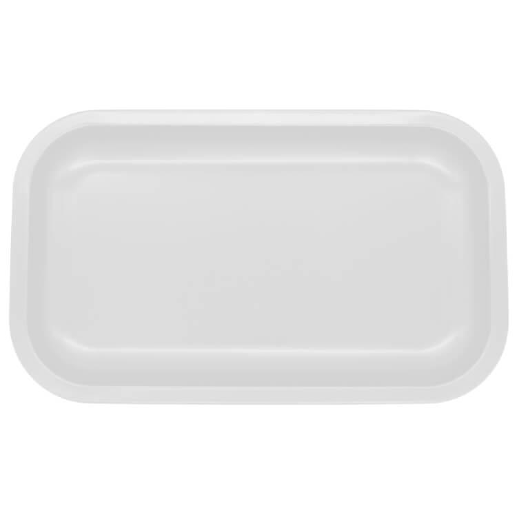 blank white tray
