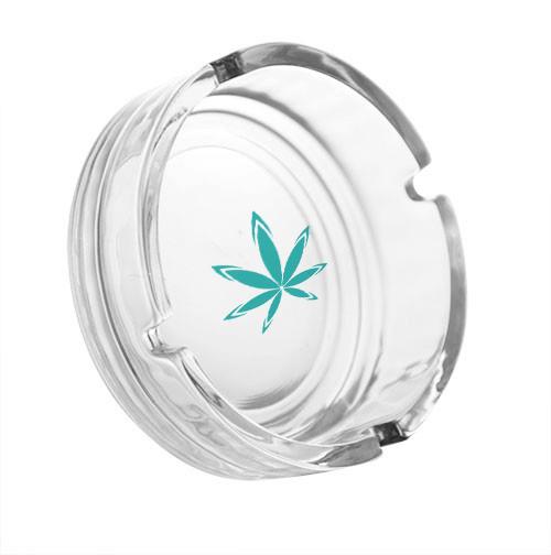 glass ashtray with logo