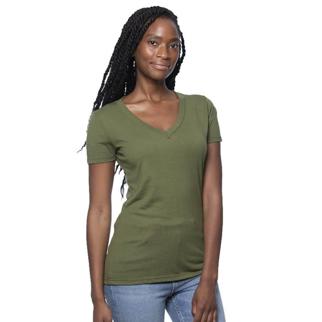 Women hemp v-neck shirt