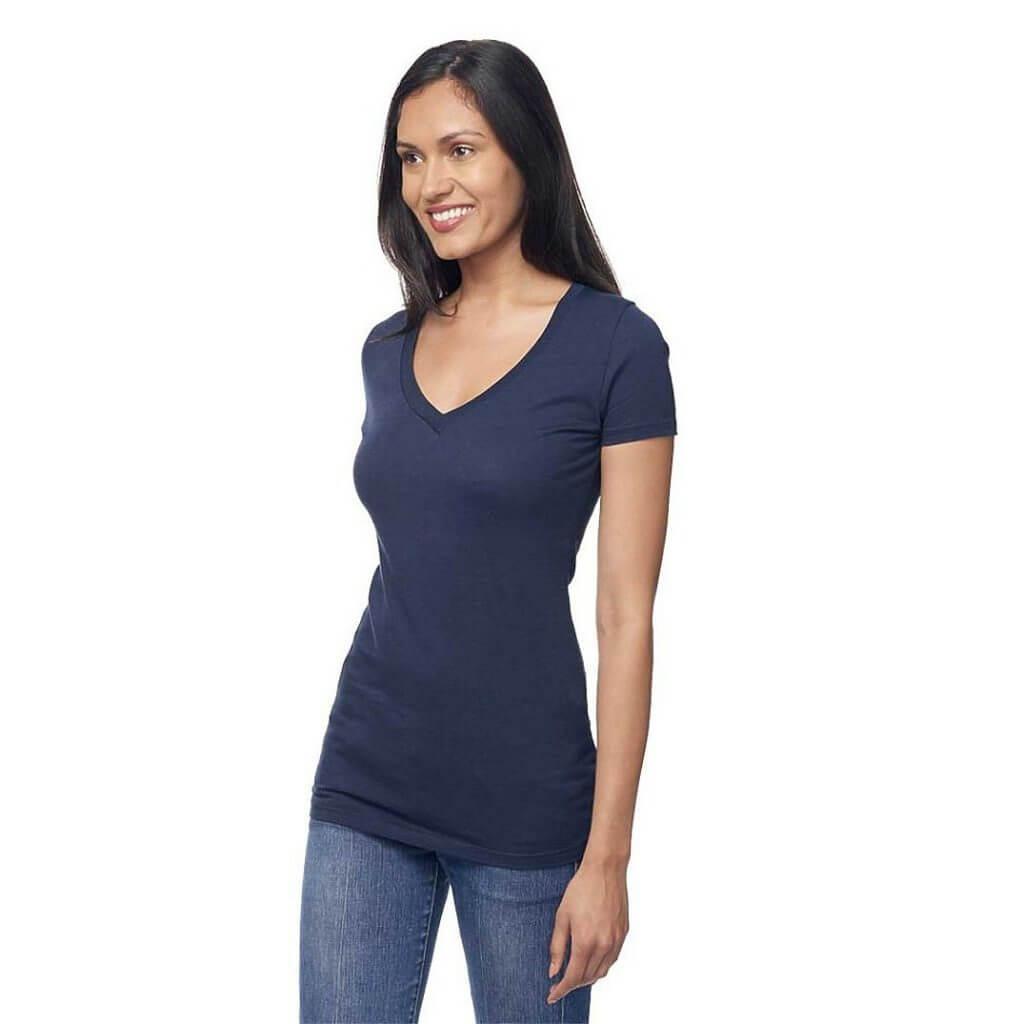 Hemp blue v-neck shirt