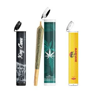 pre roll joint tubes with label