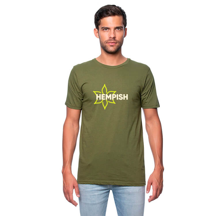 weed green shirt with logo