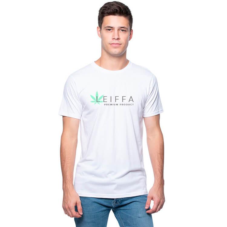men cannabis shirt pad printed