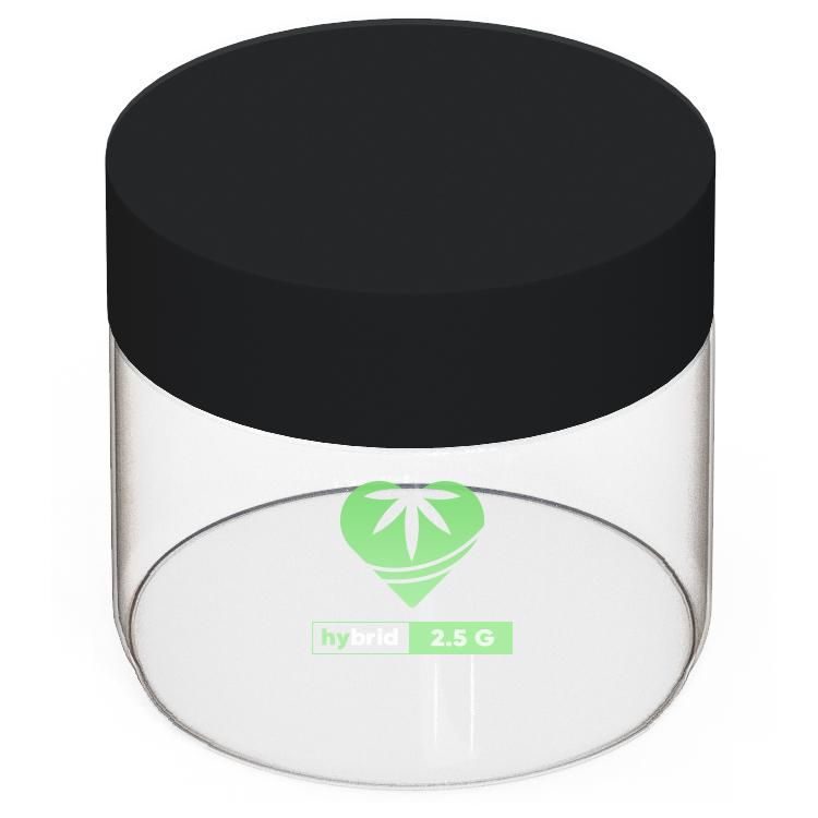 pad printed glass 2 oz jar